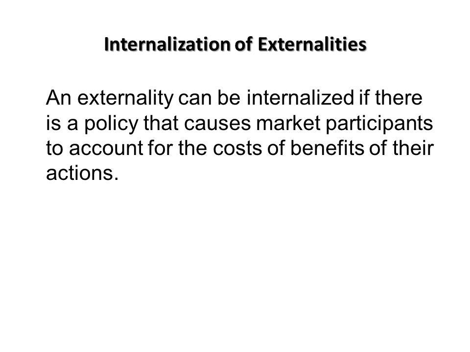 Internalization of Externalities
