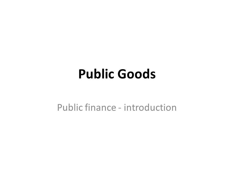 Public finance - introduction