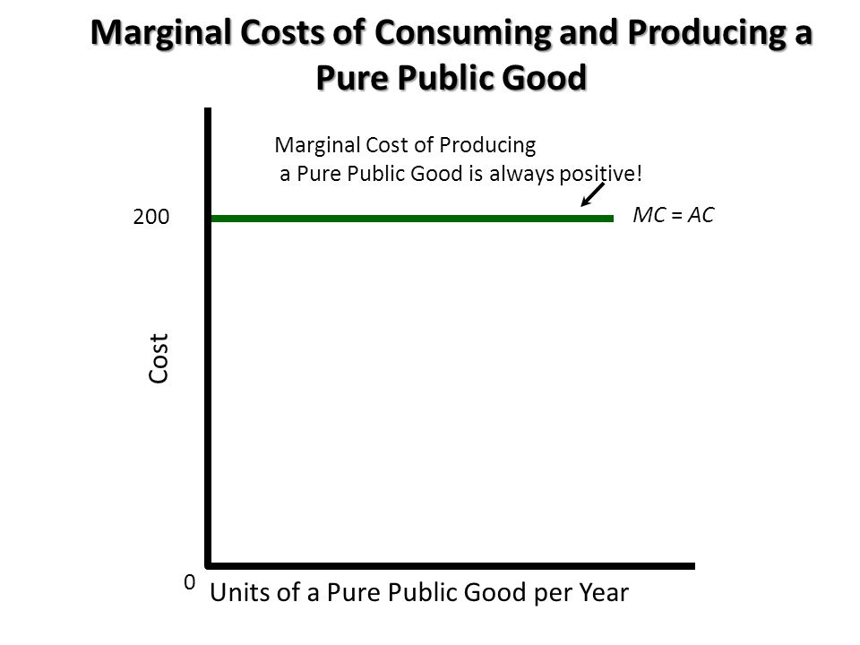 Marginal Costs of Consuming and Producing a Pure Public Good
