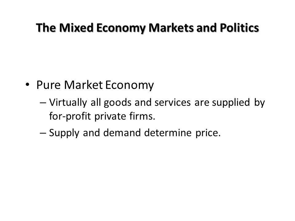 The Mixed Economy Markets and Politics
