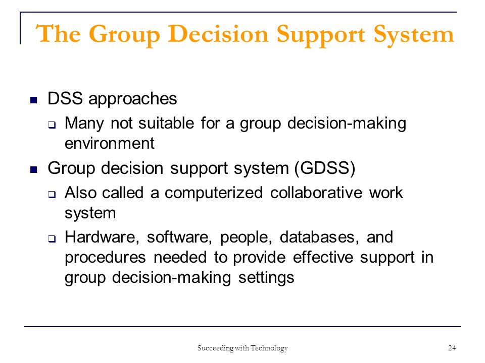 Group decision support systems: Wikis