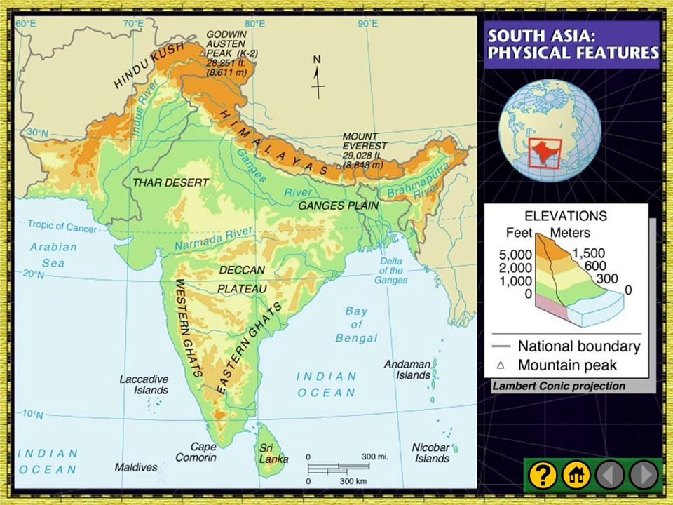 Map of south asia physical features 100 images central asia map of south asia physical features presentation plus glencoe world geography ppt gumiabroncs Images