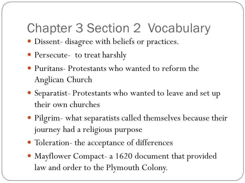 Chapter 3 Section 2 Vocabulary