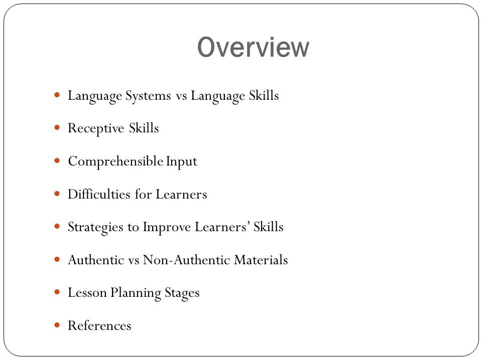receptive and productive language skills pdf