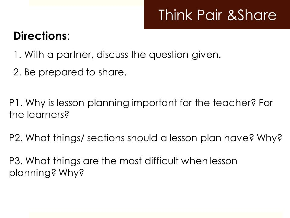Lesson Planning A Skill At Doing A Specified Thing Typically One