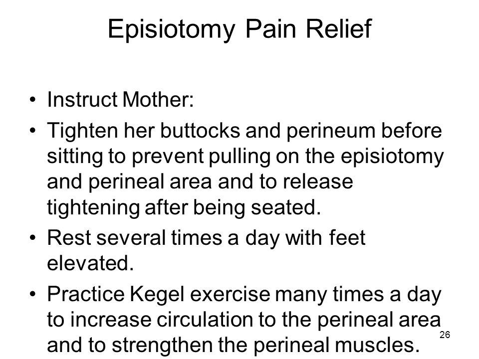 Episiotomy Pain Relief