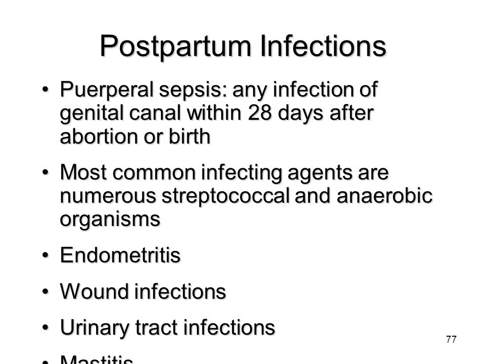 Postpartum Infections