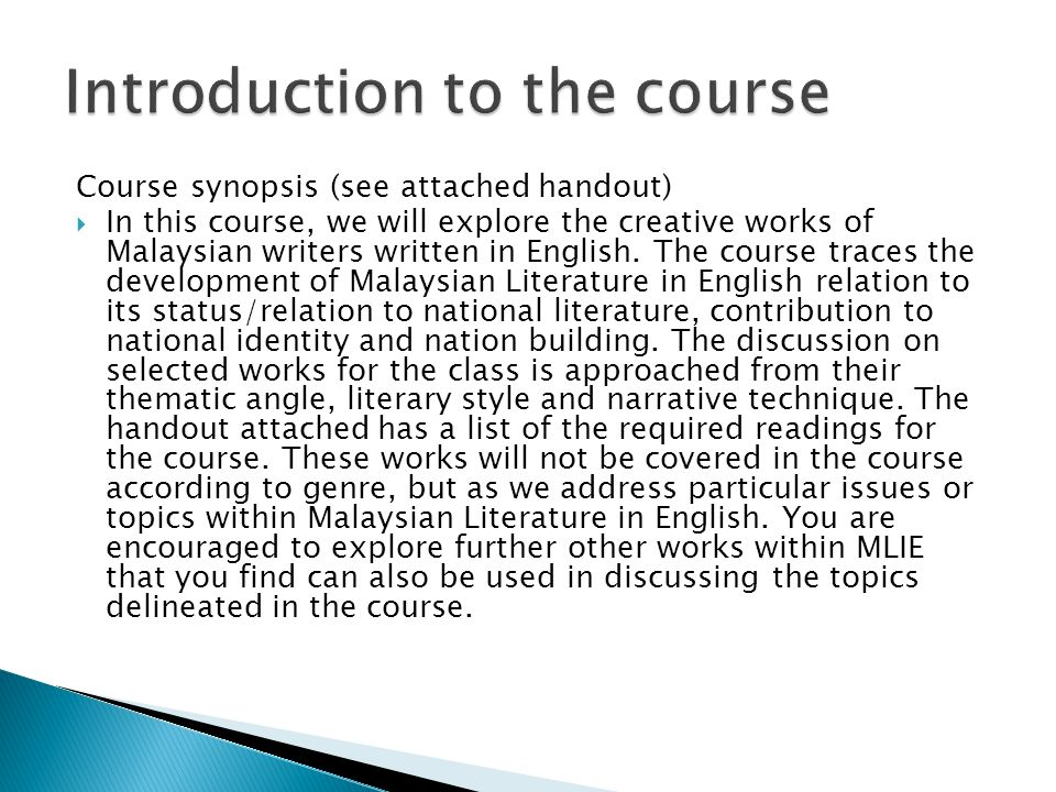Introduction to issues in literature and