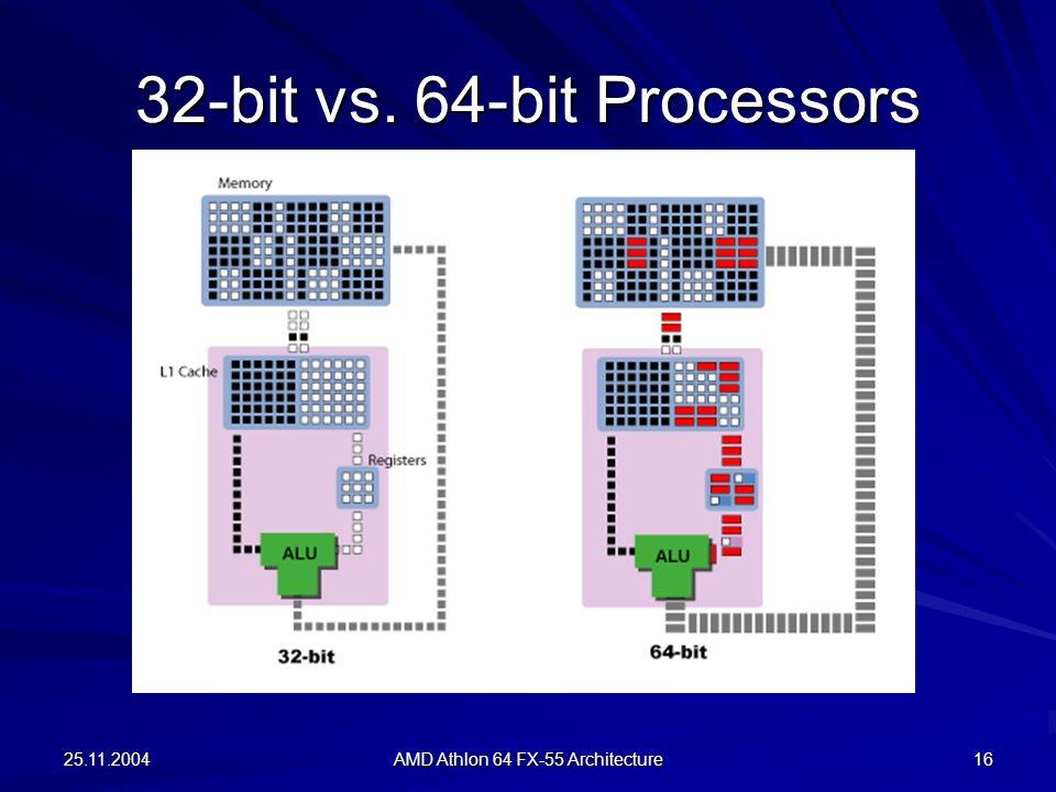 32-bit vs. 64-bit Processors