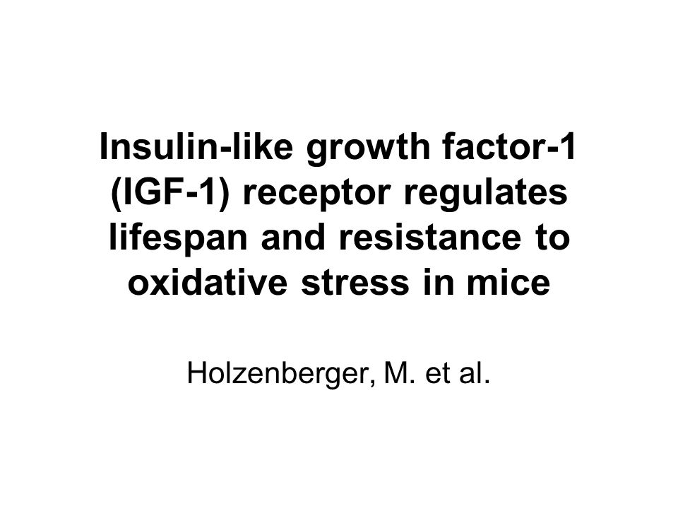 insulin like growth factor receptor pdf