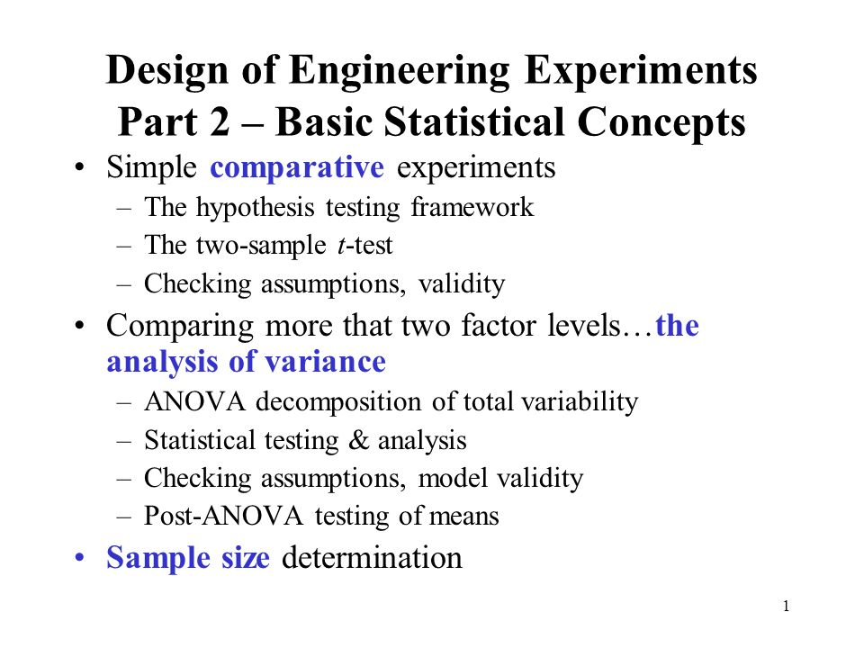 basic experimental design concepts There are three basic types of experimental research designs these include pre -experimental designs, true experimental designs, and quasi-experimental designs the degree to which the researcher assigns subjects to conditions and groups distinguishes the type of experimental design this module will focus on the.