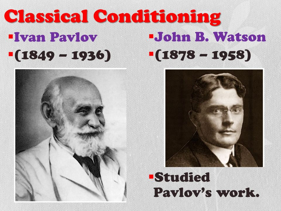 watson established conditioning