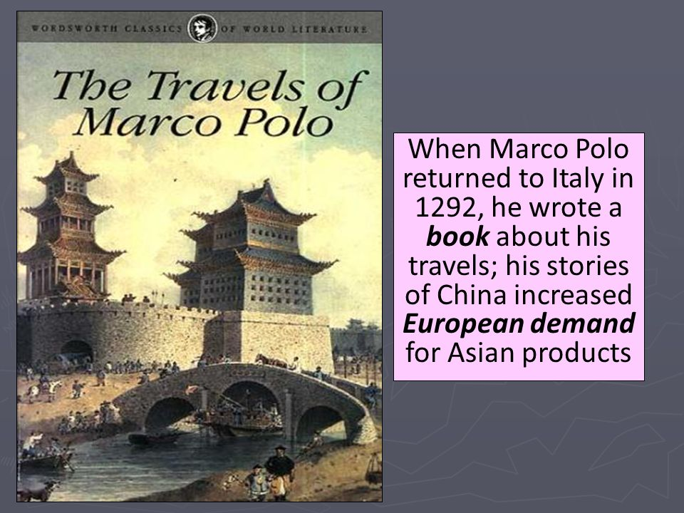 impact of marco polo in china A trade finance initiative  have a considerable impact on the  natixis has joined marco polo, a trade finance initiative run by enterprise.