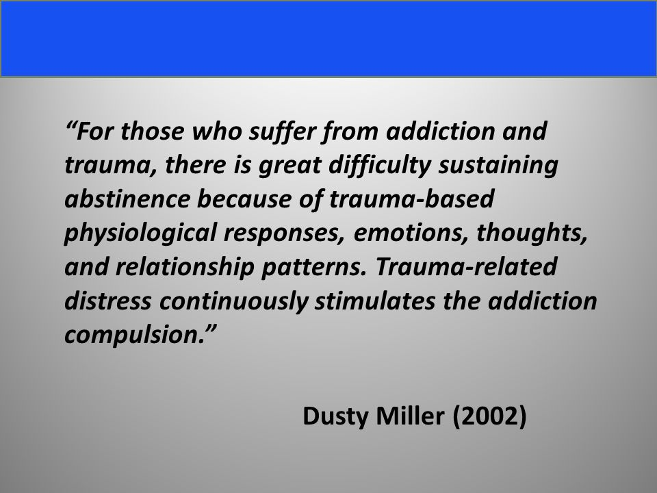 relationship between ptsd and addiction