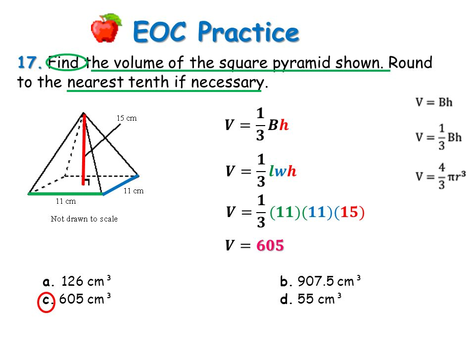 EOC Practice 1. Describe the cross section. a. Cube b. trapezoid ...
