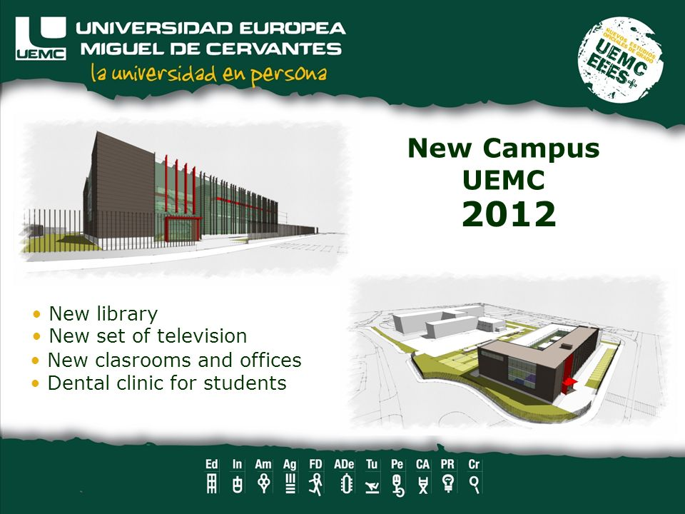 2012 New Campus UEMC New library New set of television