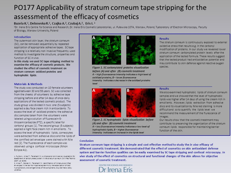 PO177 Applicability of stratum corneum tape stripping for the assessment of the efficacy of cosmetics