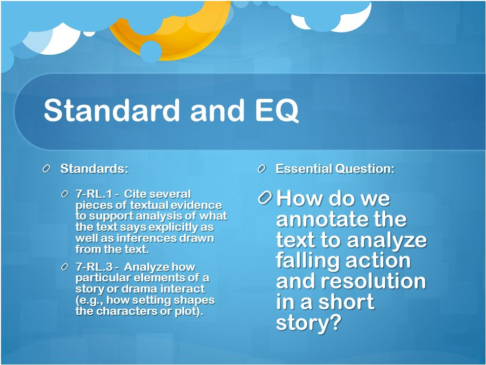 Standard and EQ Standards: