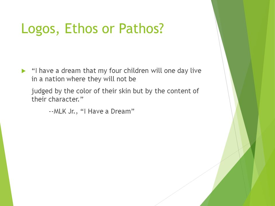 how to find ethos pathos and logos in a speech