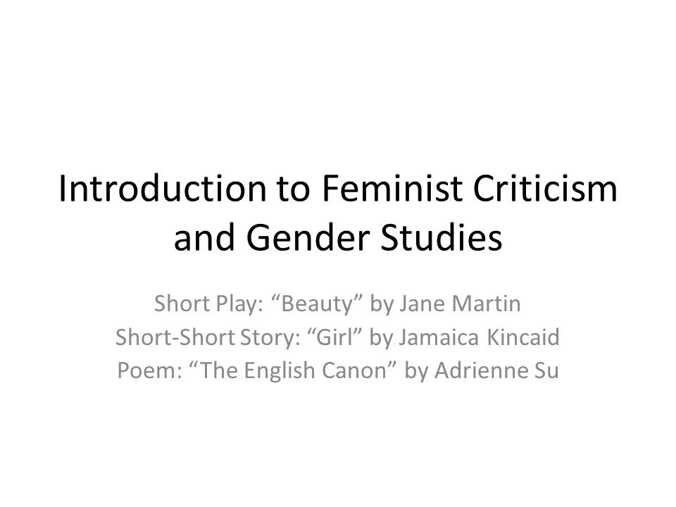 introduction to feminist criticism and gender studies ppt video  introduction to feminist criticism and gender studies