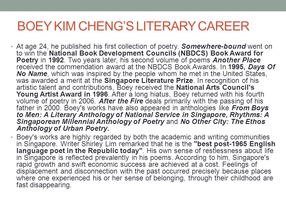 english language and kimberly chang Fostering literacy development in english fostering literacy development in english language many english language learners come from homes or.