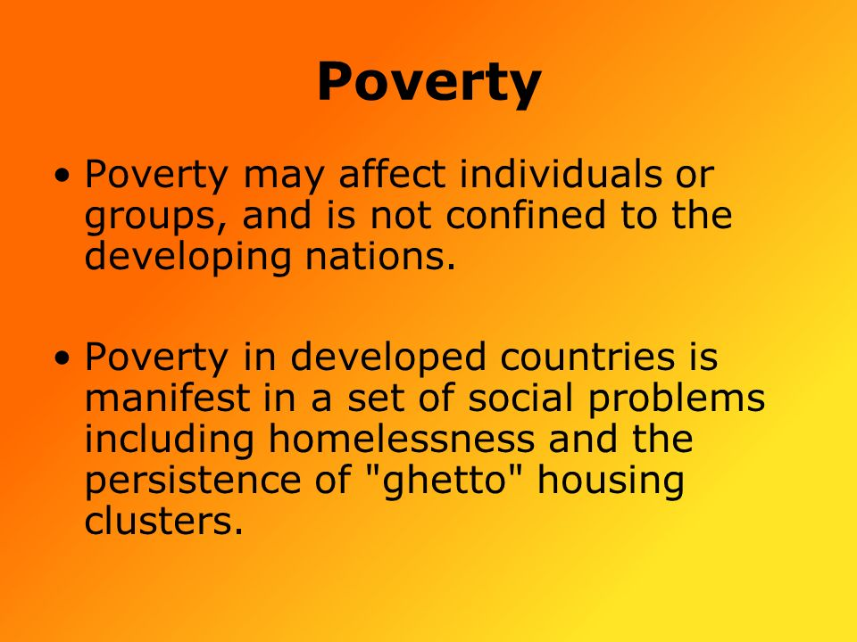 Causes of poverty in developing countries essay