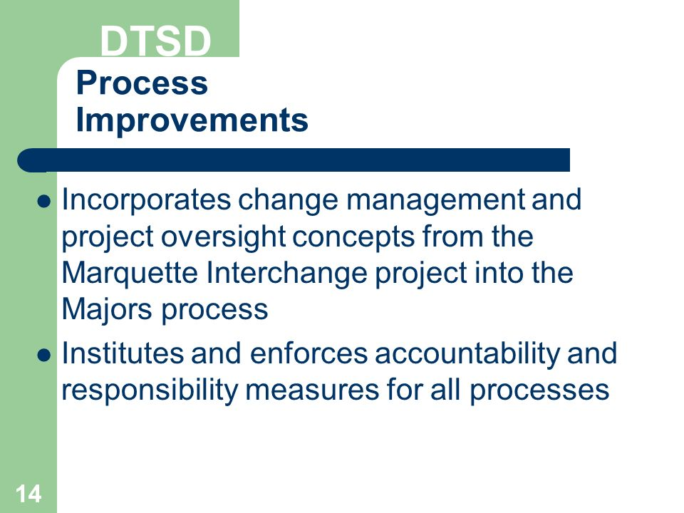 process improvement and change project presentation This tutorial contains 2 presentations nur 492 week 7 process improvement and change project presentation - instructions: prepare a 10- to 15-slide microsoft® powerpoint® presentation with speaker notes and include the following topics.