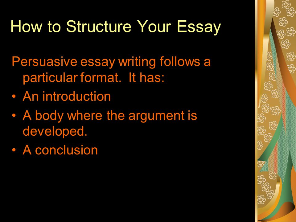 persuasive essay writing ppt video online  how to structure your essay