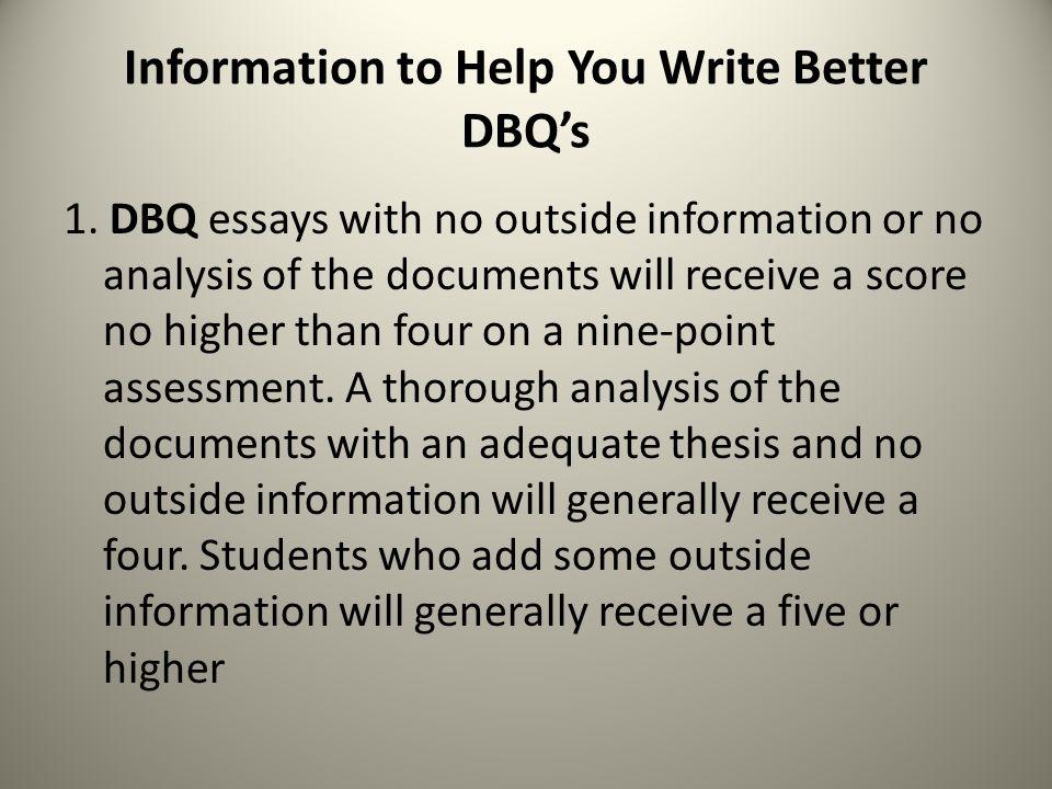 Help writing dbq essay