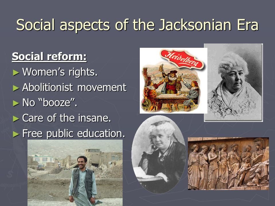 "the jacksonian era The jacksonian period, nicknamed the era of the ""common man,"" lived up to its characterization - the jacksonian era and the common."
