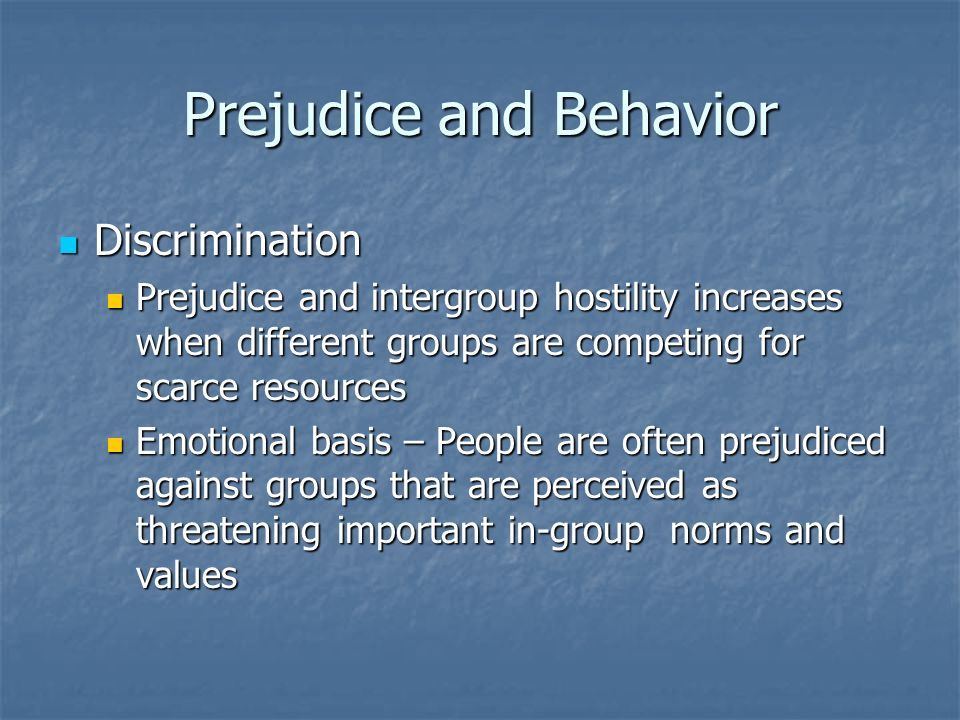 Conformity and discrimination being different psychology essay