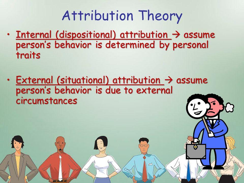 attribution theory of perception pdf