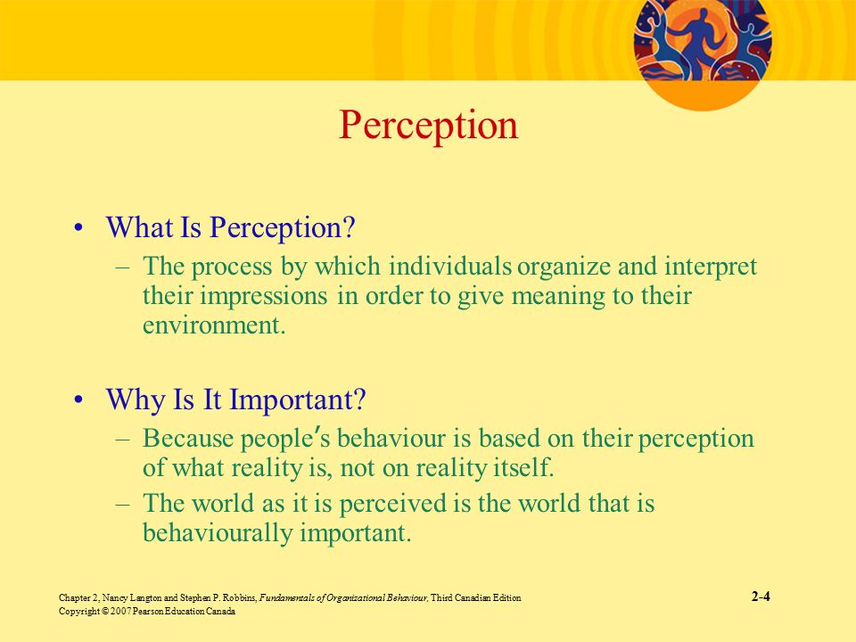 why is perception important essay A new year gift, perception and reality sifu wong kiew kit's home page enhancing your health, vitality, longevity, mental freshness and spiritual joy perception is often more important than reality a new year gift from grandmaster wong kiew kit 1st january 2010.