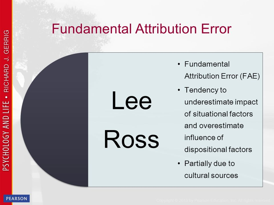 how to fix fundamental attribution error
