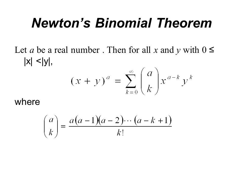 newton binomial theorem
