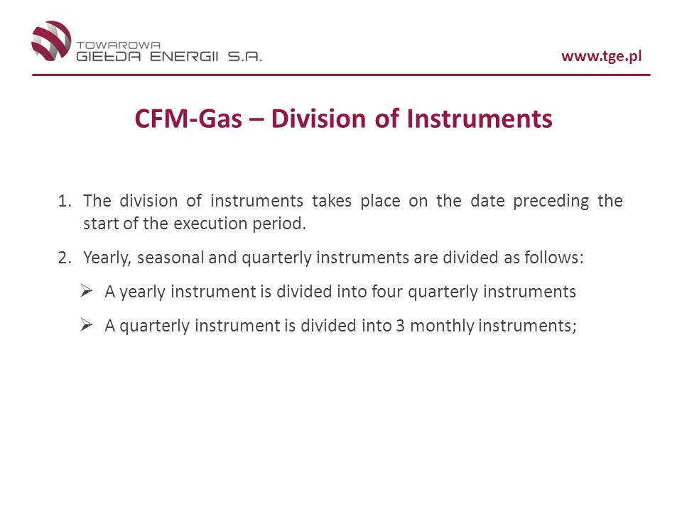 CFM-Gas – Division of Instruments