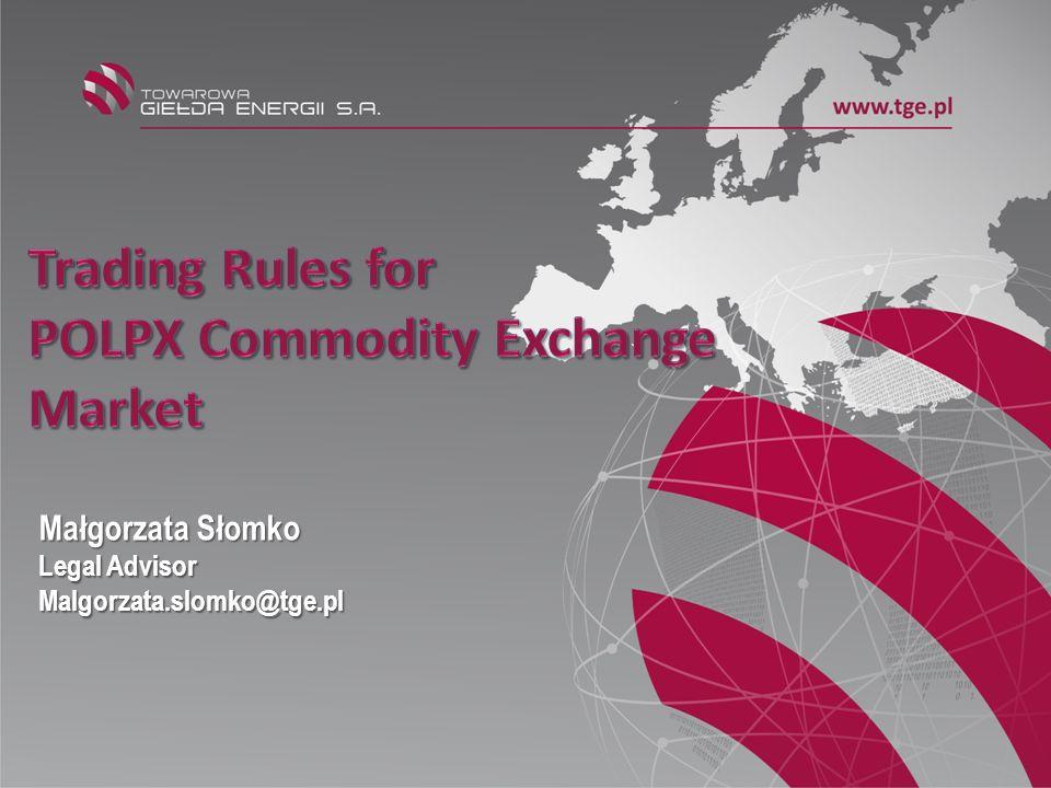 POLPX Commodity Exchange Market