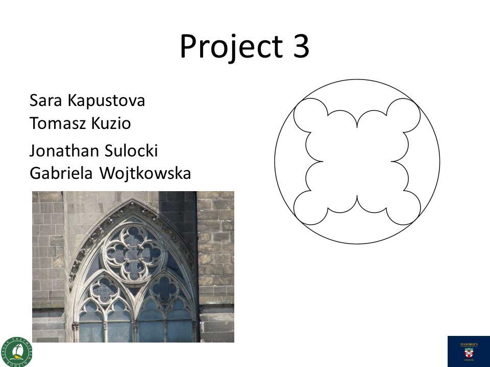 Project 3 Sara Kapustova Tomasz Kuzio Jonathan Sulocki Gabriela Wojtkowska