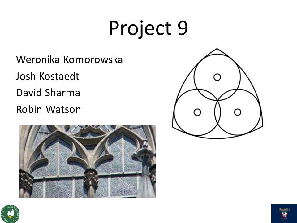 Project 9 Weronika Komorowska Josh Kostaedt David Sharma Robin Watson