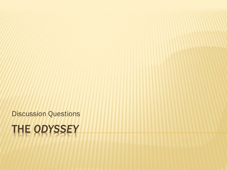 Discussion questions the odyssey book    The Odyssey Unit  Close Reading   Text Dependent Questions