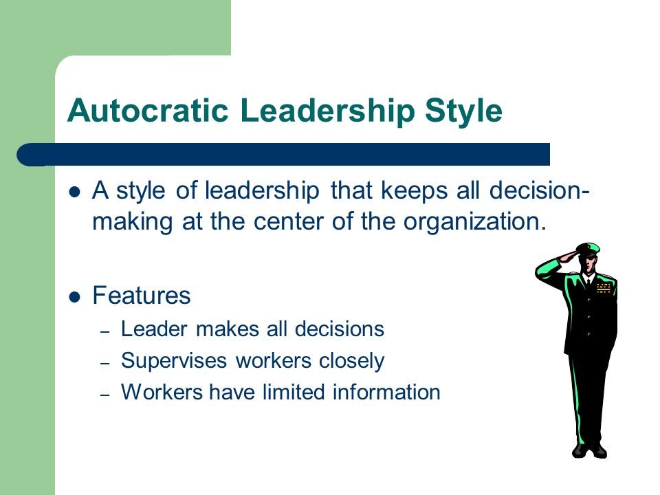 Autocratic Leadership Style Images Galleries With A Bite