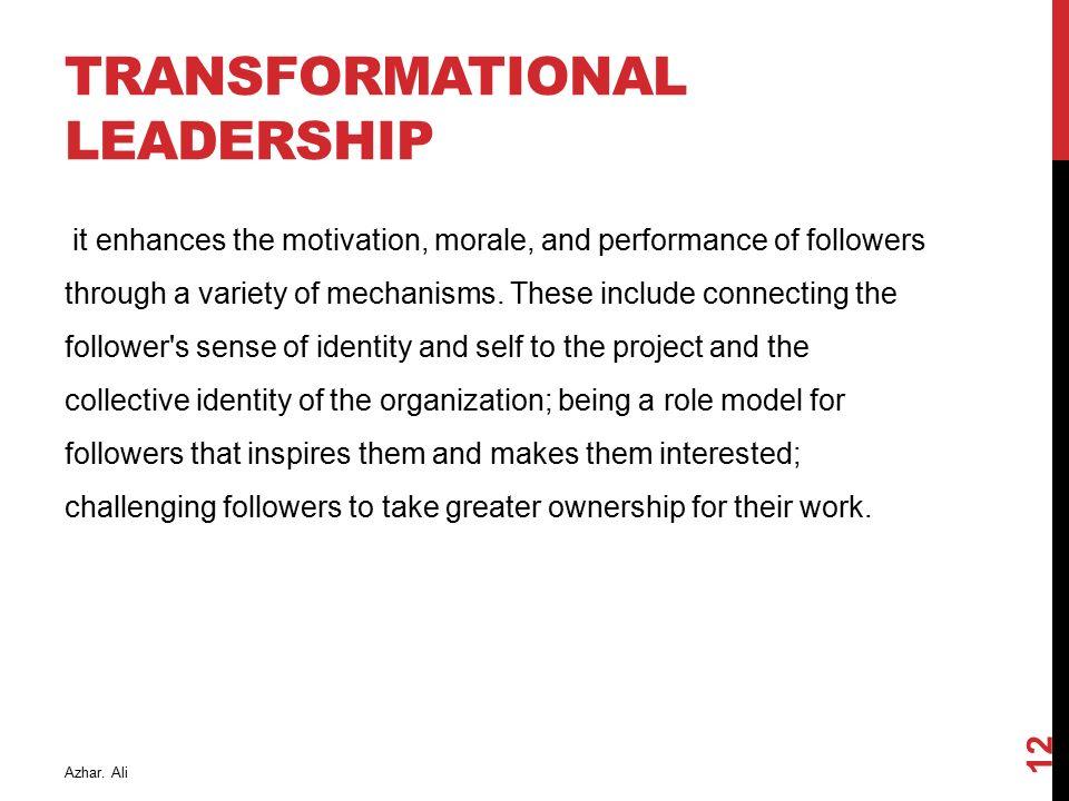 transformational leadership and team performance