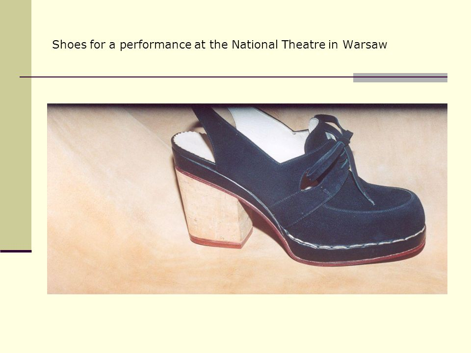Shoes for a performance at the National Theatre in Warsaw