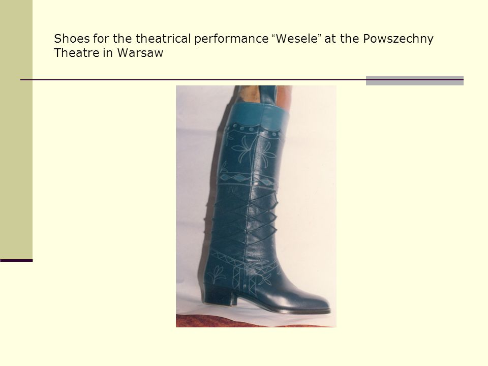 Shoes for the theatrical performance Wesele at the Powszechny Theatre in Warsaw
