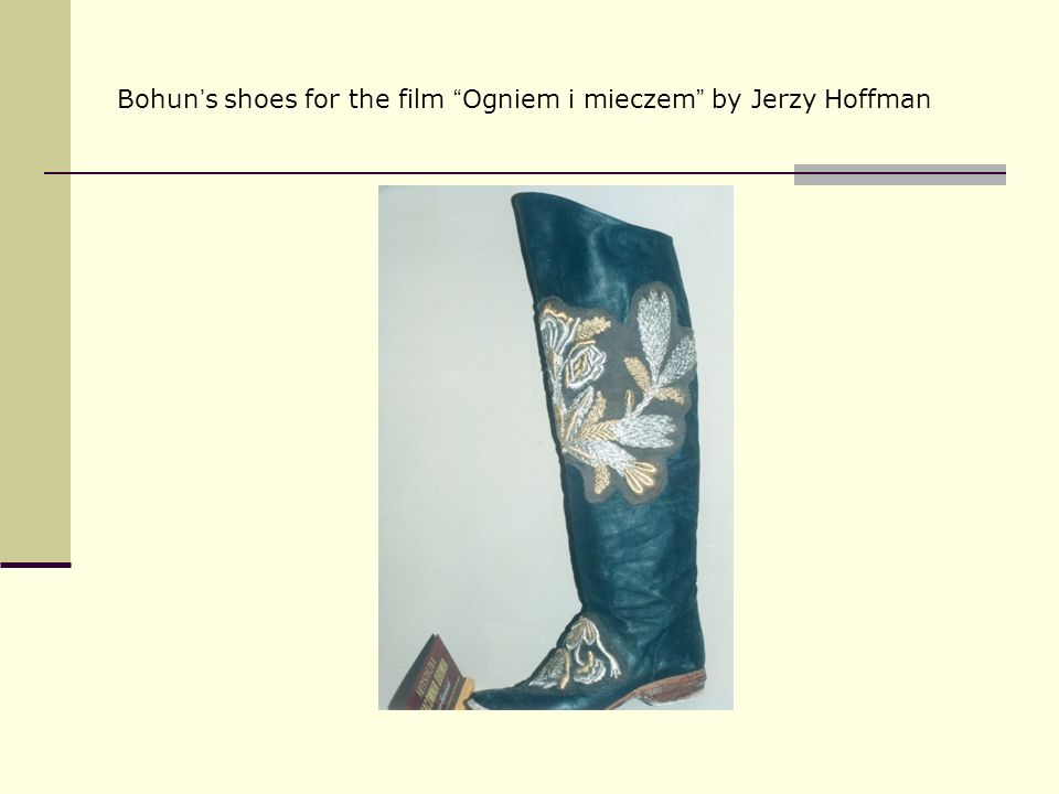 Bohun's shoes for the film Ogniem i mieczem by Jerzy Hoffman