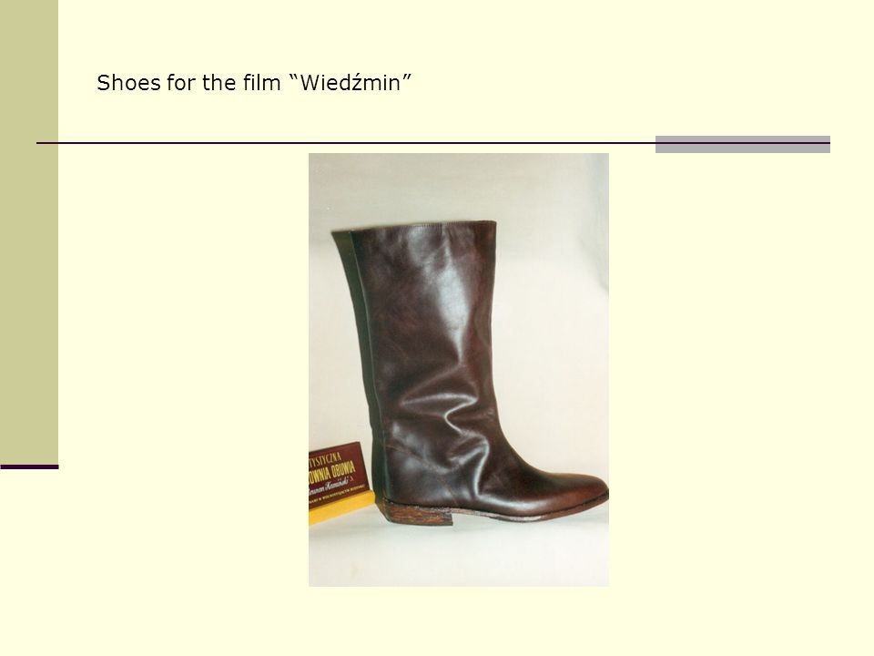 Shoes for the film Wiedźmin