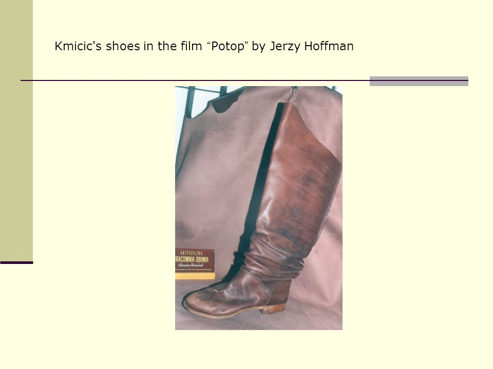 Kmicic s shoes in the film Potop by Jerzy Hoffman