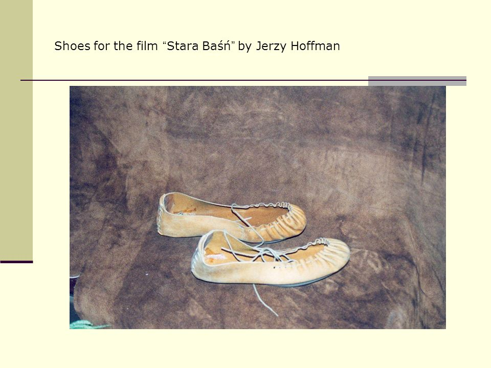 Shoes for the film Stara Baśń by Jerzy Hoffman