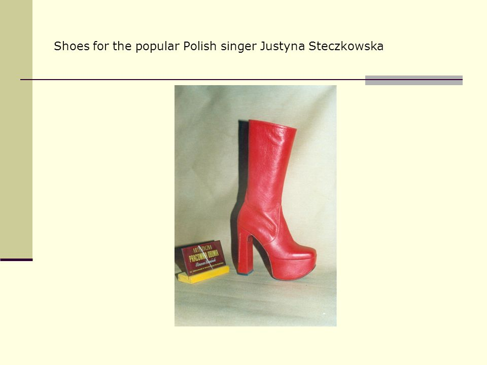 Shoes for the popular Polish singer Justyna Steczkowska