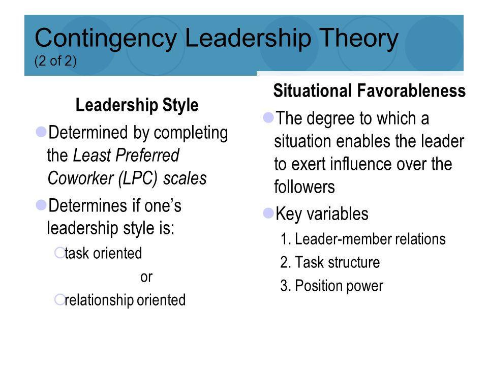 power and influence theory of leadership pdf